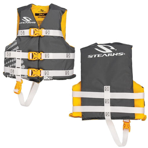 Stearns Child Classic Nylon Vest Life Jacket - 30-50lbs - Gold Rush [3000002197] - Youth Outdoor Adventure