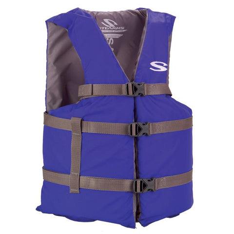 Stearns Classic Series Adult Universal Life Vest - Blue/Grey [3000004475] - Youth Outdoor Adventure