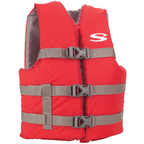 Stearns Classic Youth Life Jacket - 50-90lbs - Red/Grey [3000004472] - Youth Outdoor Adventure