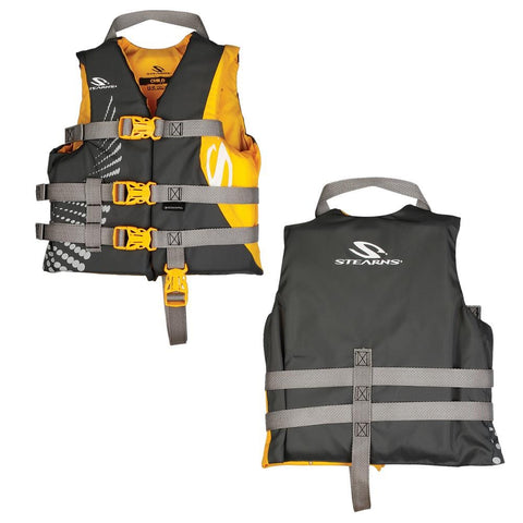 Stearns Antimicrobial Nylon Life Jacket - 30-50lbs - Gold Rush [2000029255] - Youth Outdoor Adventure