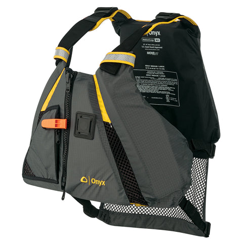 Onyx MoveVent Dynamic Paddle Sports Vest - Yellow/Grey - XL/XXL [122200-300-060-18] - Youth Outdoor Adventure