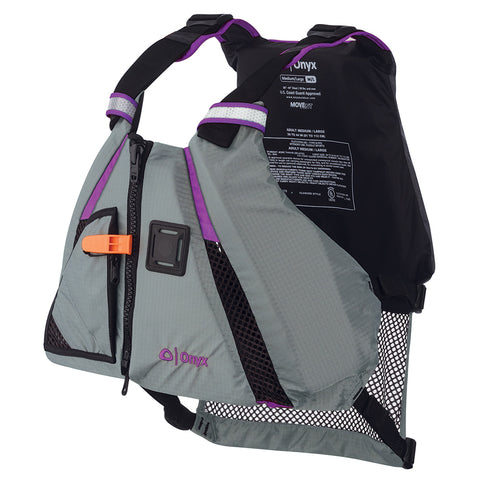 Onyx MoveVent Dynamic Paddle Sports Vest - Purple/Grey - XS/Small [122200-600-020-18] - Youth Outdoor Adventure