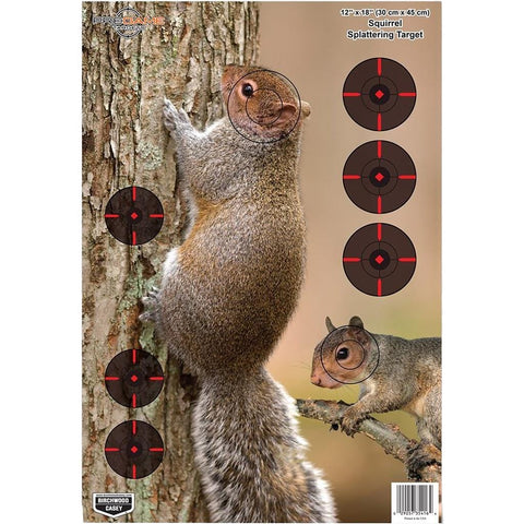 BIRCHWOOD CASEY PREGAME SQUIRREL TARGET 12X18 IN. 8 PK. - Youth Outdoor Adventure