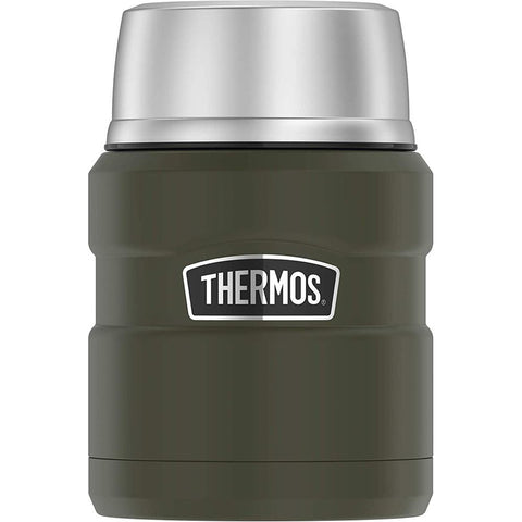 Thermos Stainless King Vacuum Insulated Stainless Steel Food Jar - 16oz - Matte Army Green [SK3000AGTRI4] - Youth Outdoor Adventure