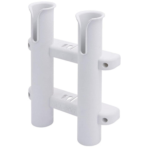 Sea-Dog Two Pole Side Mount Rod Storage Rack - White [325028-1] - Youth Outdoor Adventure