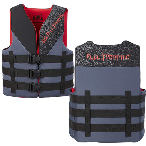 Full Throttle Adult Rapid Dry PFD - L/XL - Red/Black [142000-700-050-19] - Youth Outdoor Adventure