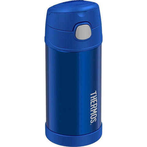 Thermos FUNtainer Stainless Steel Insulated Blue Water Bottle w/Straw - 12oz [F4019BL6] - Youth Outdoor Adventure