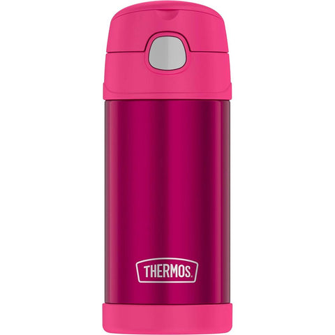 Thermos FUNtainer Stainless Steel Insulated Pink Water Bottle w/Straw - 12oz [F4019PK6] - Youth Outdoor Adventure