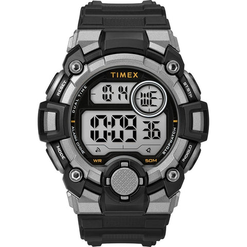 Timex Mens A-Game DGTL 50mm Watch - Black/Grey [TW5M27700JV] - Youth Outdoor Adventure