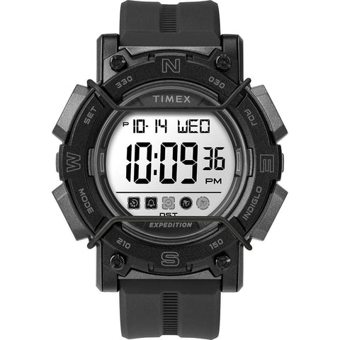 Timex Expedition Digital Face 47mm - White Screen w/Black Resin Strap [TW4B18100JV] - Youth Outdoor Adventure