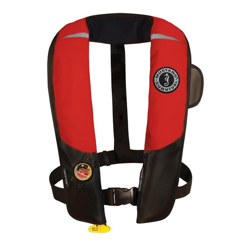 Mustang Pilot 38 Inflatable PFD Manual HIT - Red/Black [MD3181-123] - Youth Outdoor Adventure