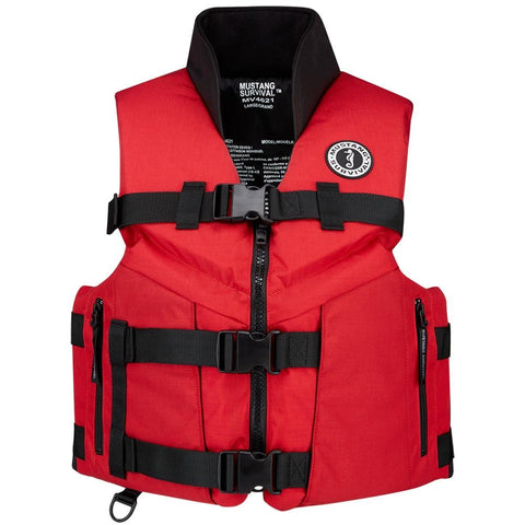 Mustang Accel 100 Fishing Vest - Small - Red/Black [MV4626-S-123] - Youth Outdoor Adventure