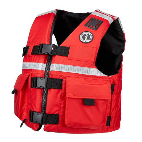 Mustang SAR Vest with SOLAS Reflective Tape - XXX-Large - Red [MV5606-XXXL-04] - Youth Outdoor Adventure