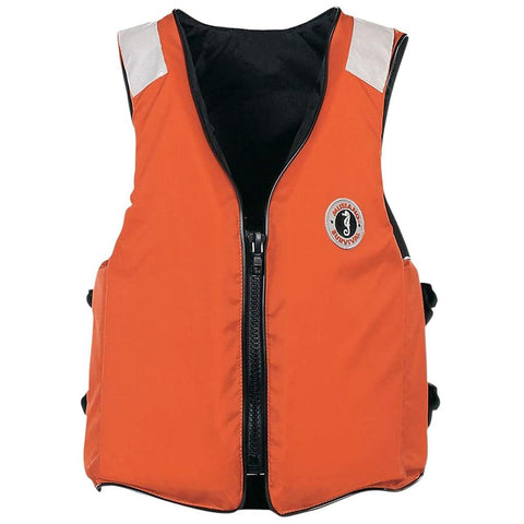 Mustang Classic Industrial Vest w/SOLAS Tape - Orange - 3XL/7XL [MV3196T2-3XL/7XL-02] - Youth Outdoor Adventure
