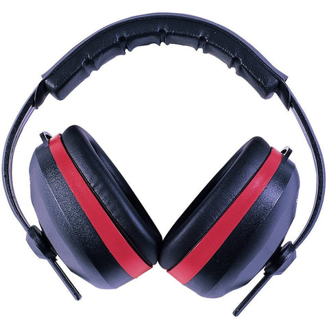 Radians Silencer Earmuff Black With Red Accent
