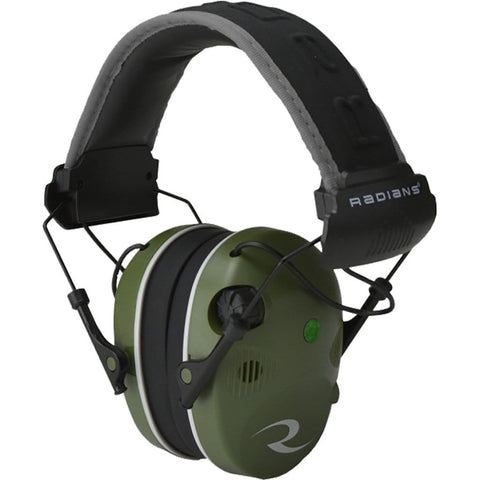 Radians R3400 Quad Mic Electronic Earmuff Military Green-black