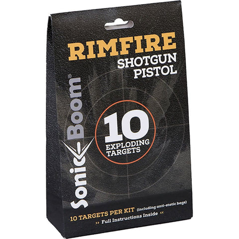 Sonic Boom Exploding Rimfire Targets 10 Targets