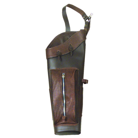 Wyandotte Brown Leather Back Quiver Rh-lh