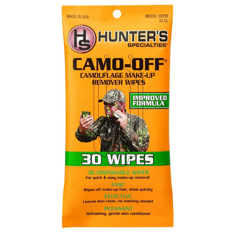 Hunters Specialties Camo-off Makeup Remover Wipes 30 Pk.