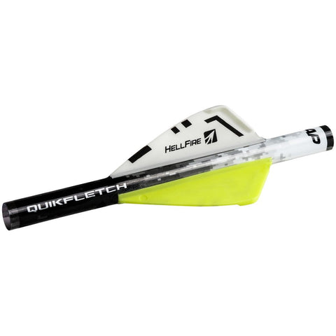 Nap Quikfletch Hellfire White-yellow-yellow 2 In. 6 Pk