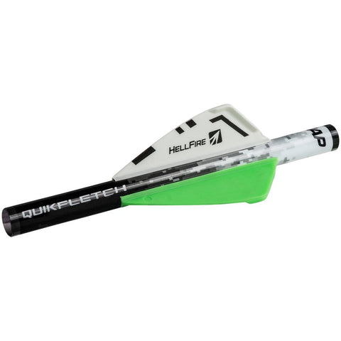 Nap Quikfletch Hellfire White-green-green 2 In. 6 Pk