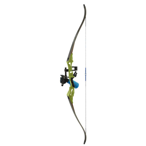Fin Finder Bank Runner Bowfishing Recurve Package W-winch Pro Bowfishing Reel Green 35 Lbs. Rh