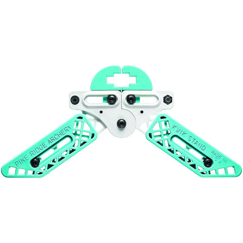 Pine Ridge Kwik Stand Bow Support White-turquoise