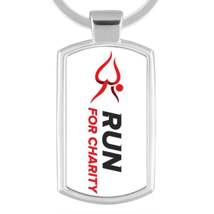 Metal Keyring - Run For Charity Logo Design