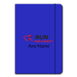 A5 Soft Touch Notebook - Run For Charity Logo and Name Design