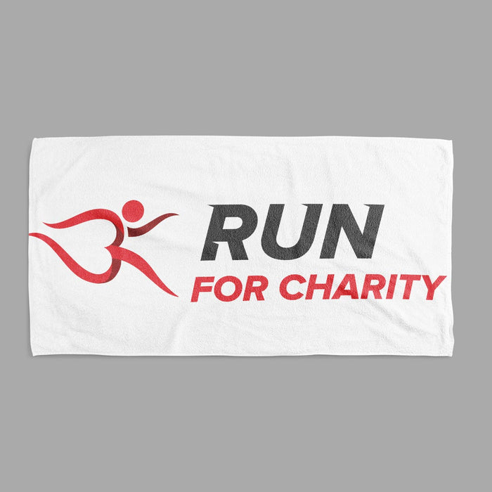 Towel x 2 Sizes - Run For Charity Logo Design