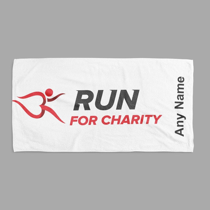 Towel x 2 Sizes - Run For Charity Logo and Name Design
