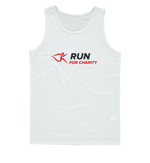 Mens Vest - Run For Charity Logo Design Option