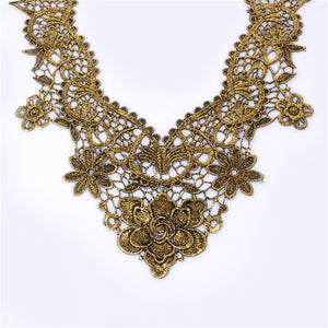 Lace Rose Collar Necklace