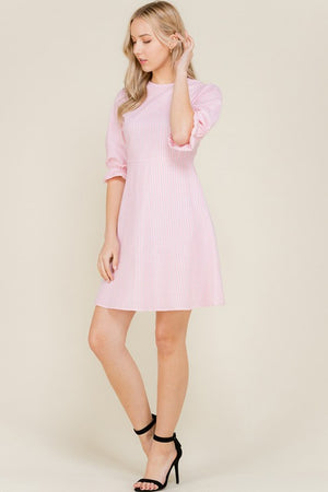 Seasucker Back Tie Aline Dress