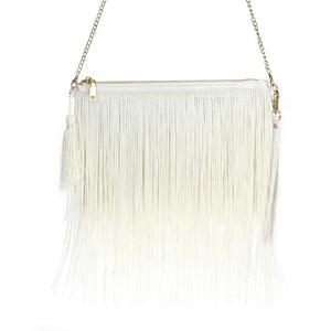 Zip-top Fringe Crossbody