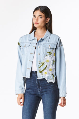Daisey Distressed Denim Jacket
