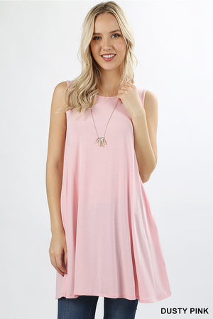 Sleeveless Tunic with Pockets