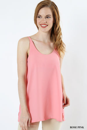 Long Scoop Neck Cami