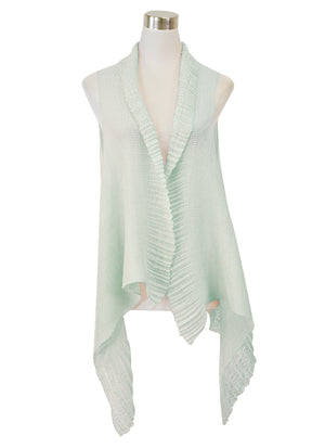 PLEATED SHEER SCARFVEST