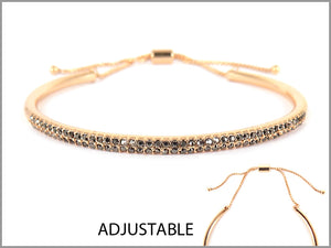 CURVE BANGLE PAVE PULL-TIE BRACELET