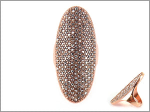 DEEP OVAL PAVE RING