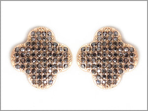 PAVE CLUSTER CLOVER EARRINGS
