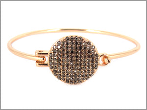PAVE CLUSTER DOT PUSH BANGLE BRACELET