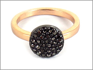 PAVE DROPLET RING