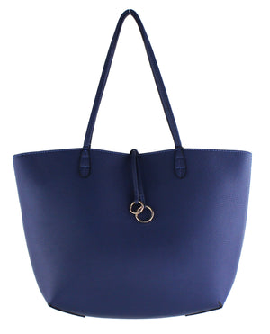 MEDIUM REVERSIBLE TOTE W/ RING DETAIL