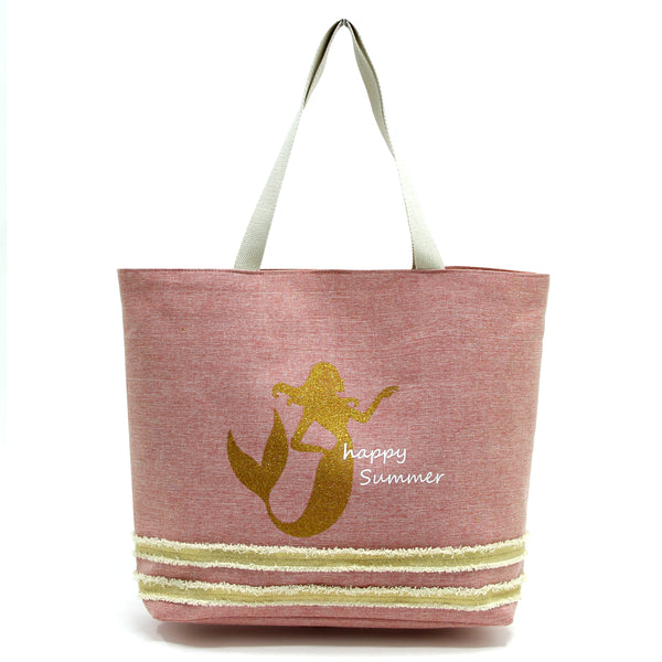 Happy Summer Mermaid Becah Bag