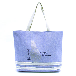 Happy Summer Pinapple Beach Bag