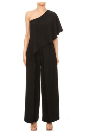 One Sleeve Flowy Jumpsuit