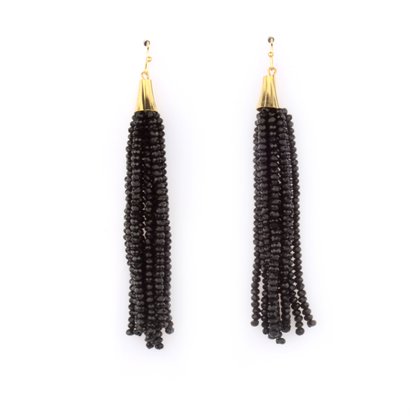 Bead Fringe Earrings