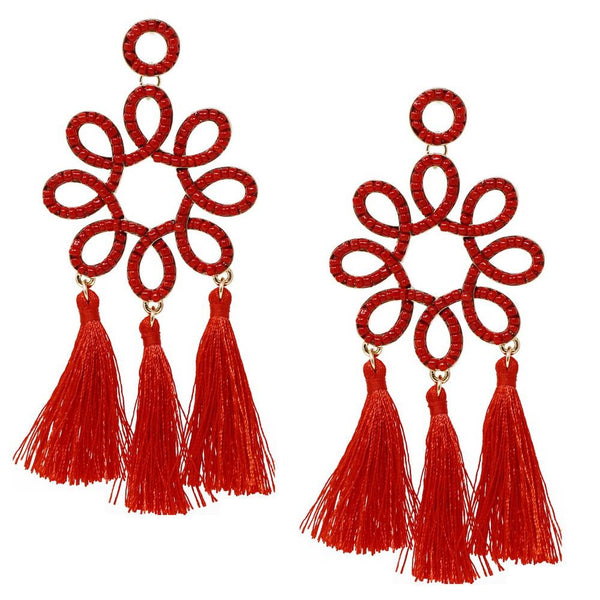 Chinoiserie Fringe Earrings